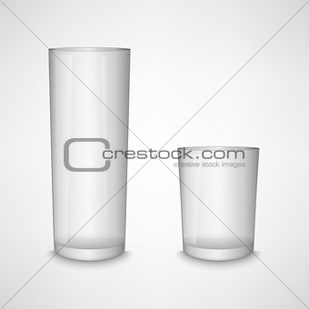 Blank white clear glass template