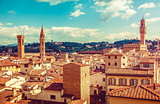Florence Italy old town with houses tegular