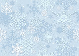 Blue Christmas Paper With Snowflakes