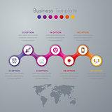 infographics timeline seven options