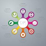 Vector illustration infographics eight options