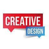 Creative Design lettering speech bubble