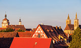 Rothenburg panorama with St. James's Church