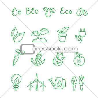 Great designed ecological icons