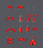 Great designed cartoon flags
