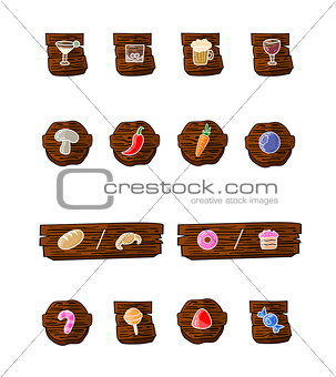 Great designed cartoon food vectors
