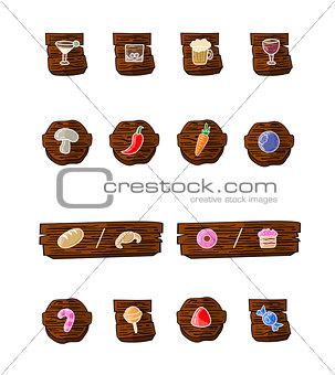 Great designed cartoon food vectors