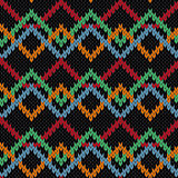 Knitting ornamental contrast molticolor seamless pattern