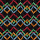 Knitting ornamental contrast molticolor seamless pattern