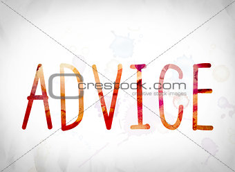 Advice Concept Watercolor Word Art