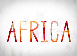 Africa Concept Watercolor Word Art
