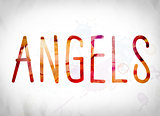 Angels Concept Watercolor Word Art