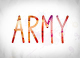 Army Concept Watercolor Word Art