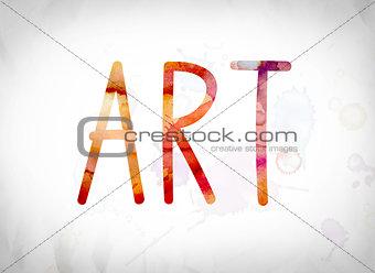 Art Concept Watercolor Word Art