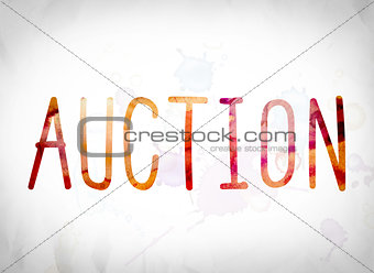 Auction Concept Watercolor Word Art