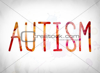 Autism Concept Watercolor Word Art