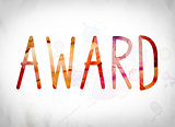 Award Concept Watercolor Word Art
