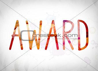 Award Concept Watercolor Word Art