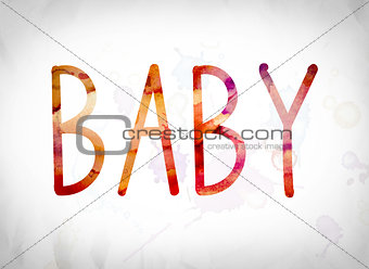 Baby Concept Watercolor Word Art