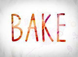 Bake Concept Watercolor Word Art