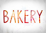 Bakery Concept Watercolor Word Art