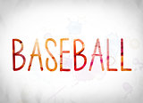 Baseball Concept Watercolor Word Art