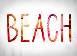 Beach Concept Watercolor Word Art