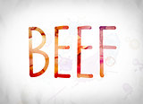Beef Concept Watercolor Word Art