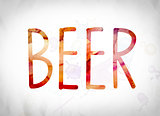 Beer Concept Watercolor Word Art
