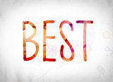 Best Concept Watercolor Word Art