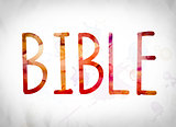 Bible Concept Watercolor Word Art