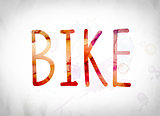 Bike Concept Watercolor Word Art