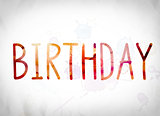 Birthday Concept Watercolor Word Art