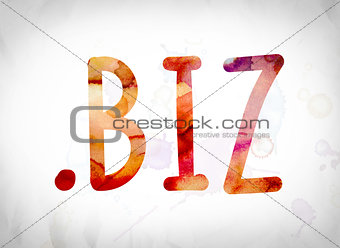 .biz Concept Watercolor Word Art