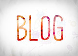 Blog Concept Watercolor Word Art