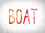 Boat Concept Watercolor Word Art