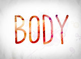 Body Concept Watercolor Word Art
