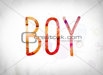 Boy Concept Watercolor Word Art