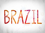 Brazil Concept Watercolor Word Art