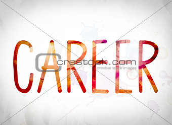 Career Concept Watercolor Word Art