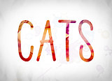 Cats Concept Watercolor Word Art