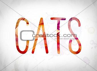 Cats Concept Watercolor Word Art