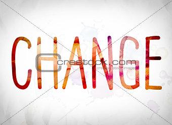 Change Concept Watercolor Word Art