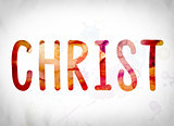 Christ Concept Watercolor Word Art