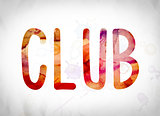 Club Concept Watercolor Word Art