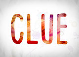 Clue Concept Watercolor Word Art