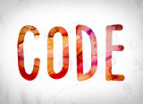 Code Concept Watercolor Word Art