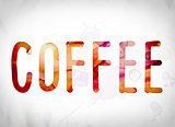 Coffee Concept Watercolor Word Art