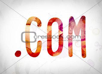 .com Concept Watercolor Word Art