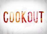 Cookout Concept Watercolor Word Art